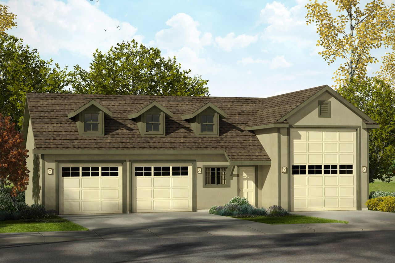 Garage Plan With Rv Storage Plan 20169 Is A 1530 Sq Ft Southwest Style Plan 3 Car Garage Design With Stucco And 2x6 Garage Design Garage Shop Plans Rv Garage