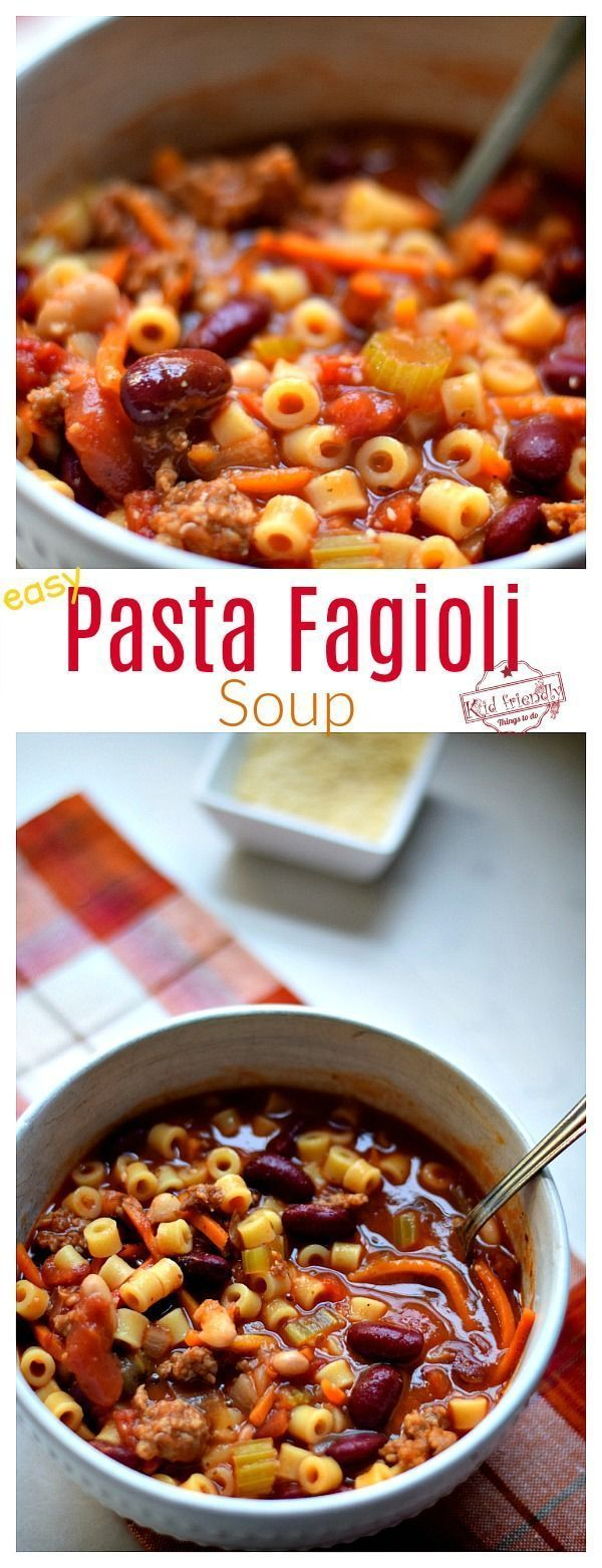 Olive Garden's Pasta Fagioli - A Copycat Recipe - Kid ...