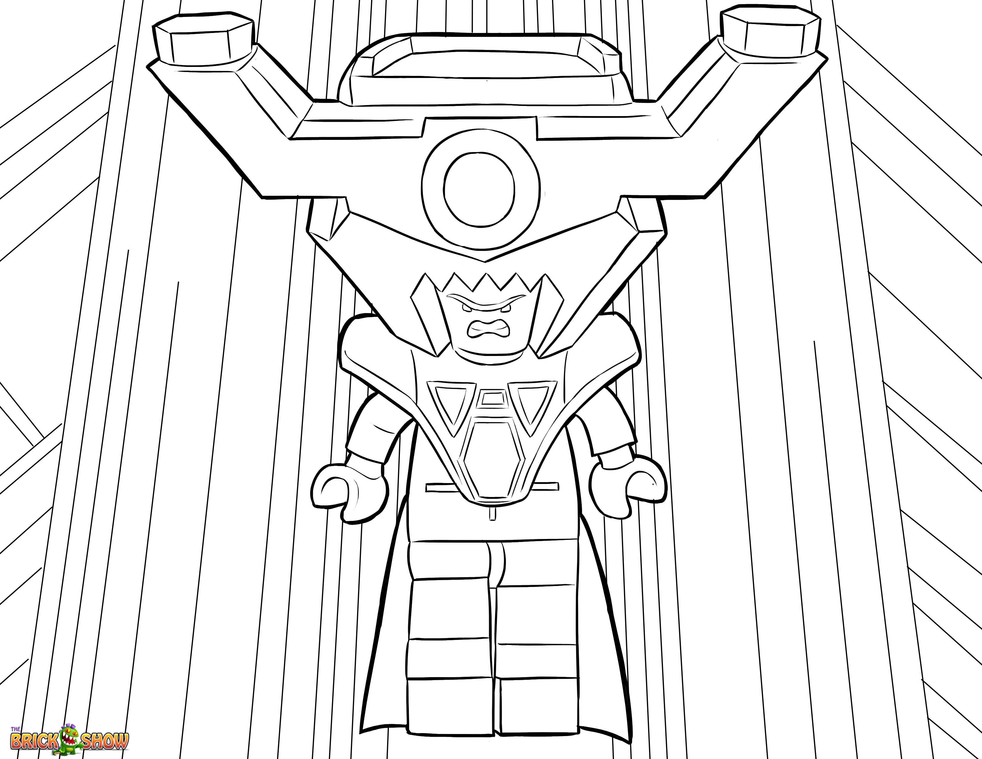 The LEGO Movie Coloring Page, LEGO Lord Business Printable