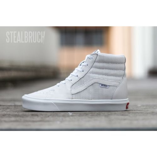 45f76e5a614b1f Vans Sk8-hi Lite Perf Perforated White Leather VN-0KXJFP6 Size 10.5 ...
