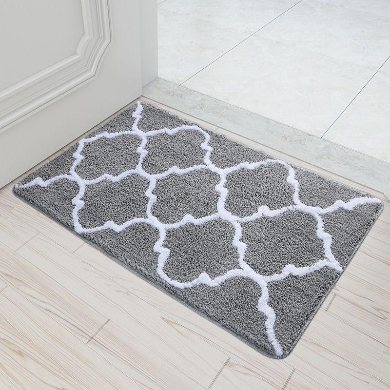 Bathroom Rugs That Absorb Water.50x80cm Modern Brief Plaid Doormat Home Entrance Hallway Area Rug