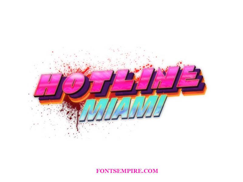 Hotline Miami Font Download Fonts Empire Hotline Miami Miami Game Font