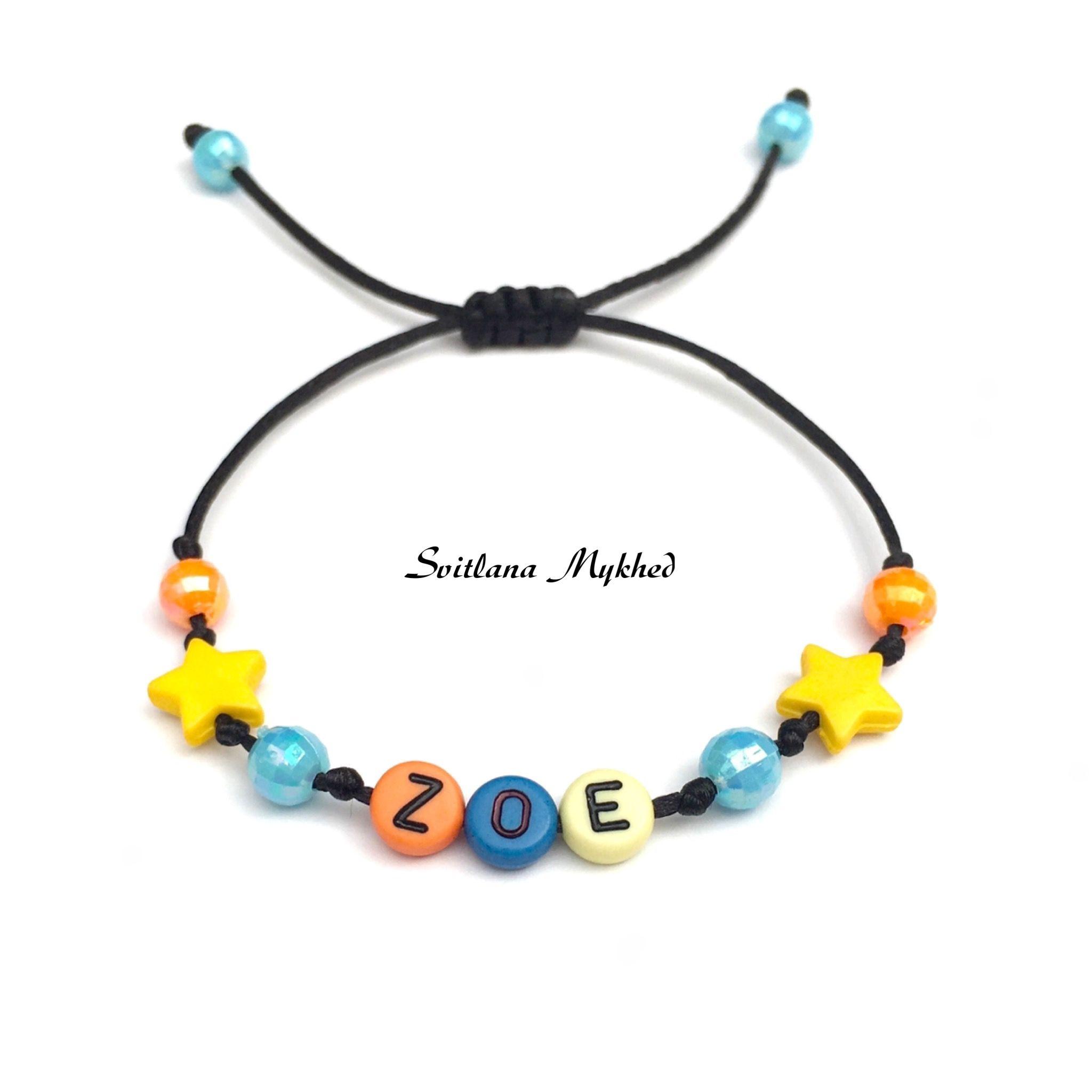 publier des informations sur super service sélectionner pour véritable Bracelet personnalisé avec prenom ZOÉ (reversible) pour ...