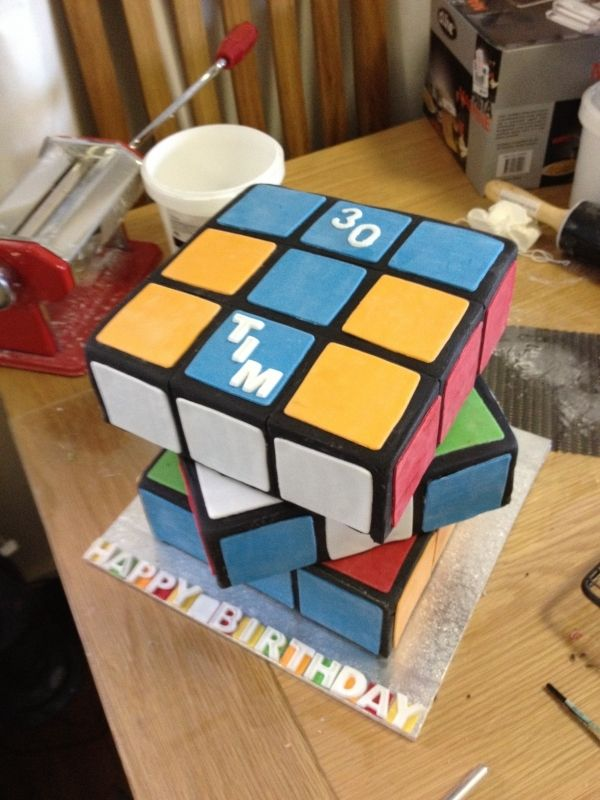 how to make a rubix cube cake