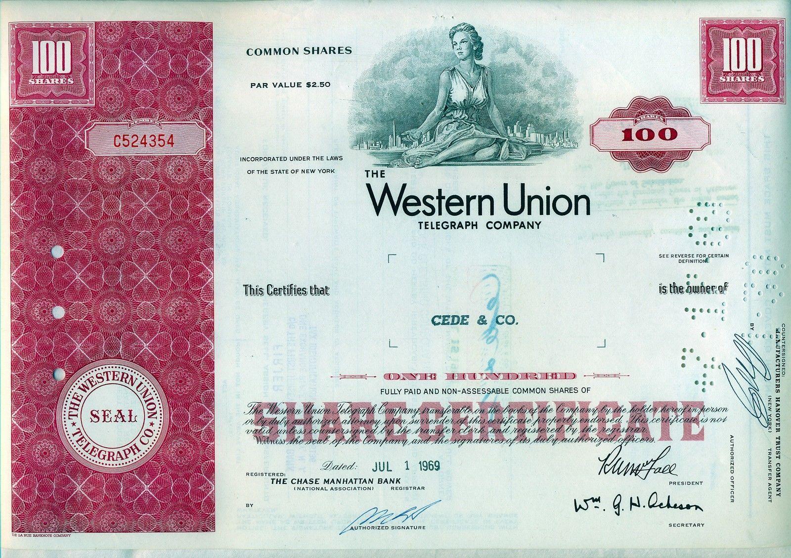 New England Telephone /& Telegraph Company Bond Stock Certificate