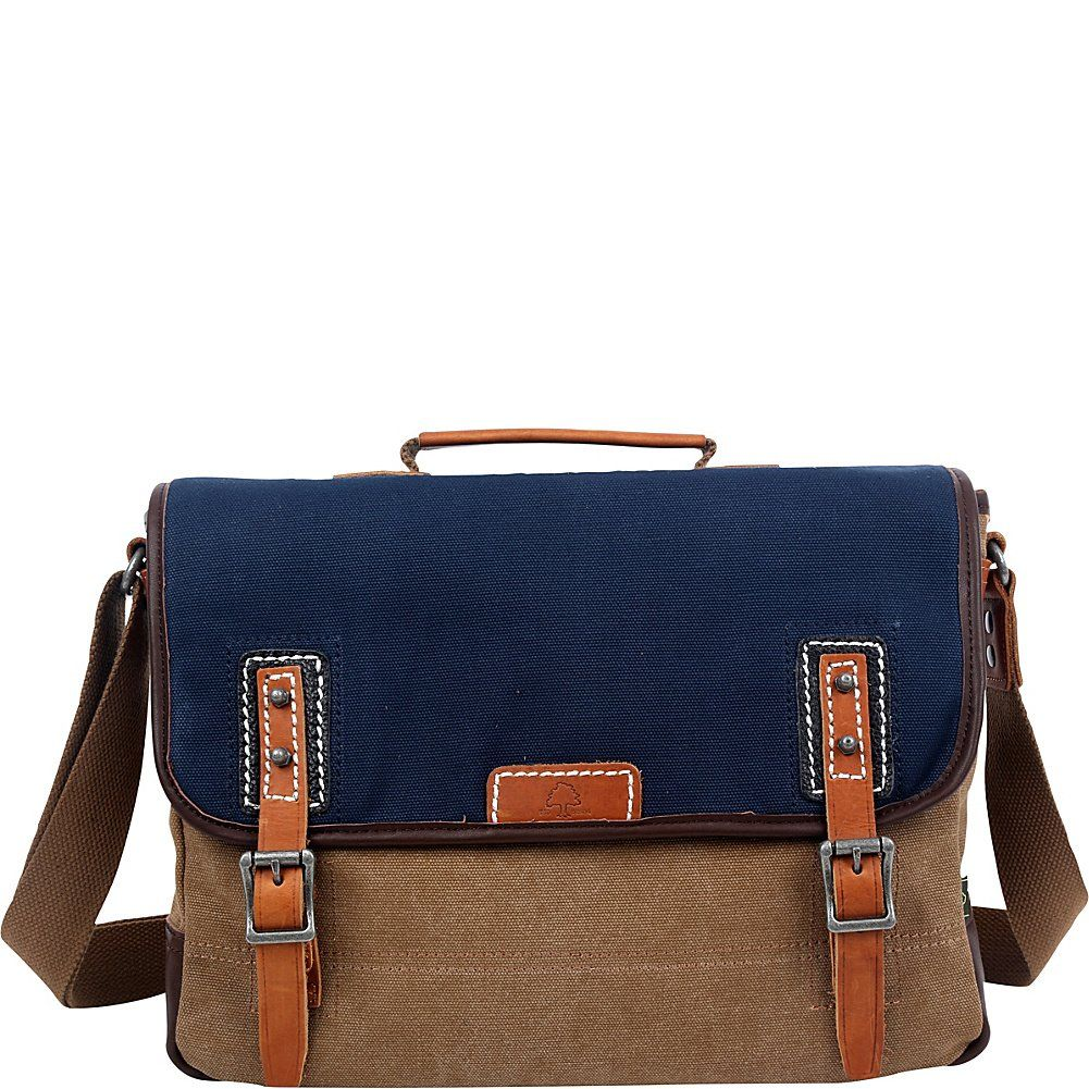 Eco-Friendly Canvas Messenger Bag - Navy Blue    See this great product. d45ec18d4d