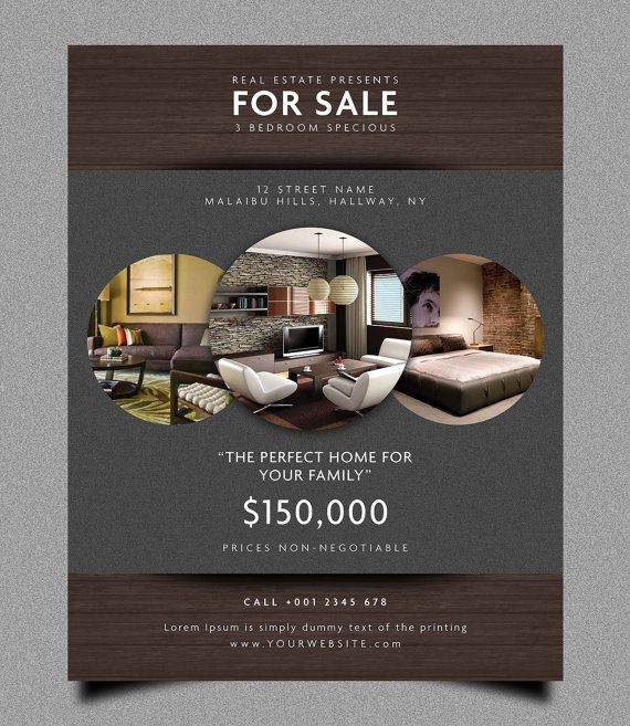 real estate flyer template by graphiki on etsy more