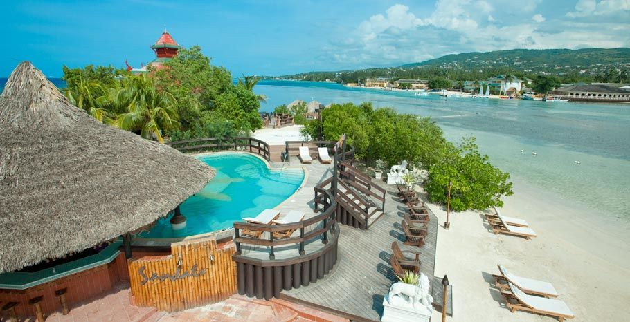 Jamaica! This is an offshore island with a nude beach on