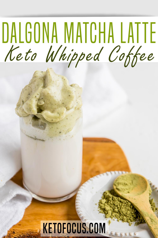 Keto Dalgona Matcha Latte Recipe Recipe in 2020 Coffee