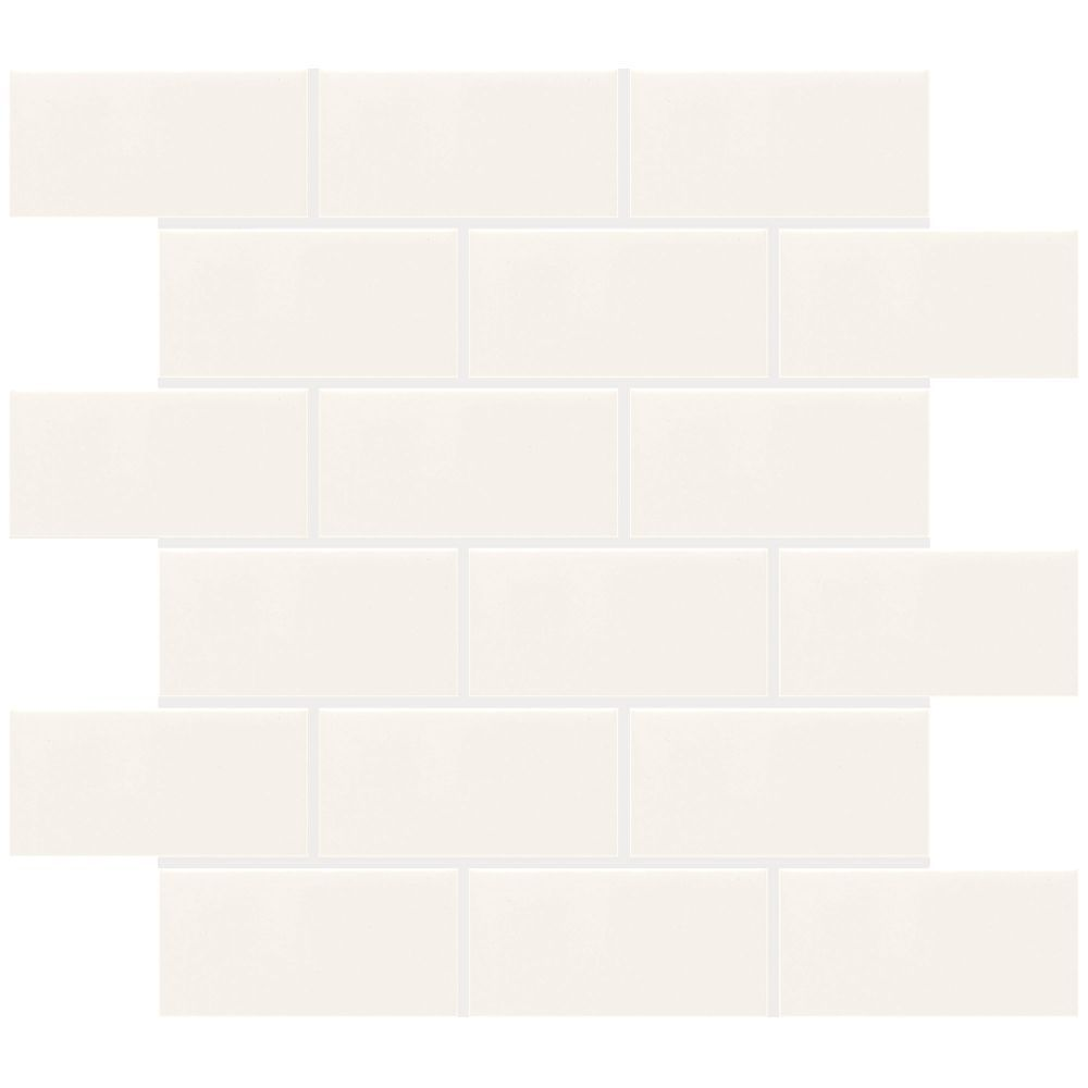 Finesse white 12 inch x 12 inch x 8 mm ceramic mosaic tile 10 sq finesse white 12 inch x 12 inch x 8 mm ceramic mosaic tile dailygadgetfo Gallery