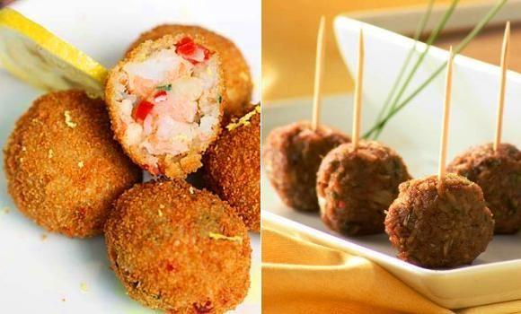 bolitas de cangrejo para picar para comer para cenar recetn