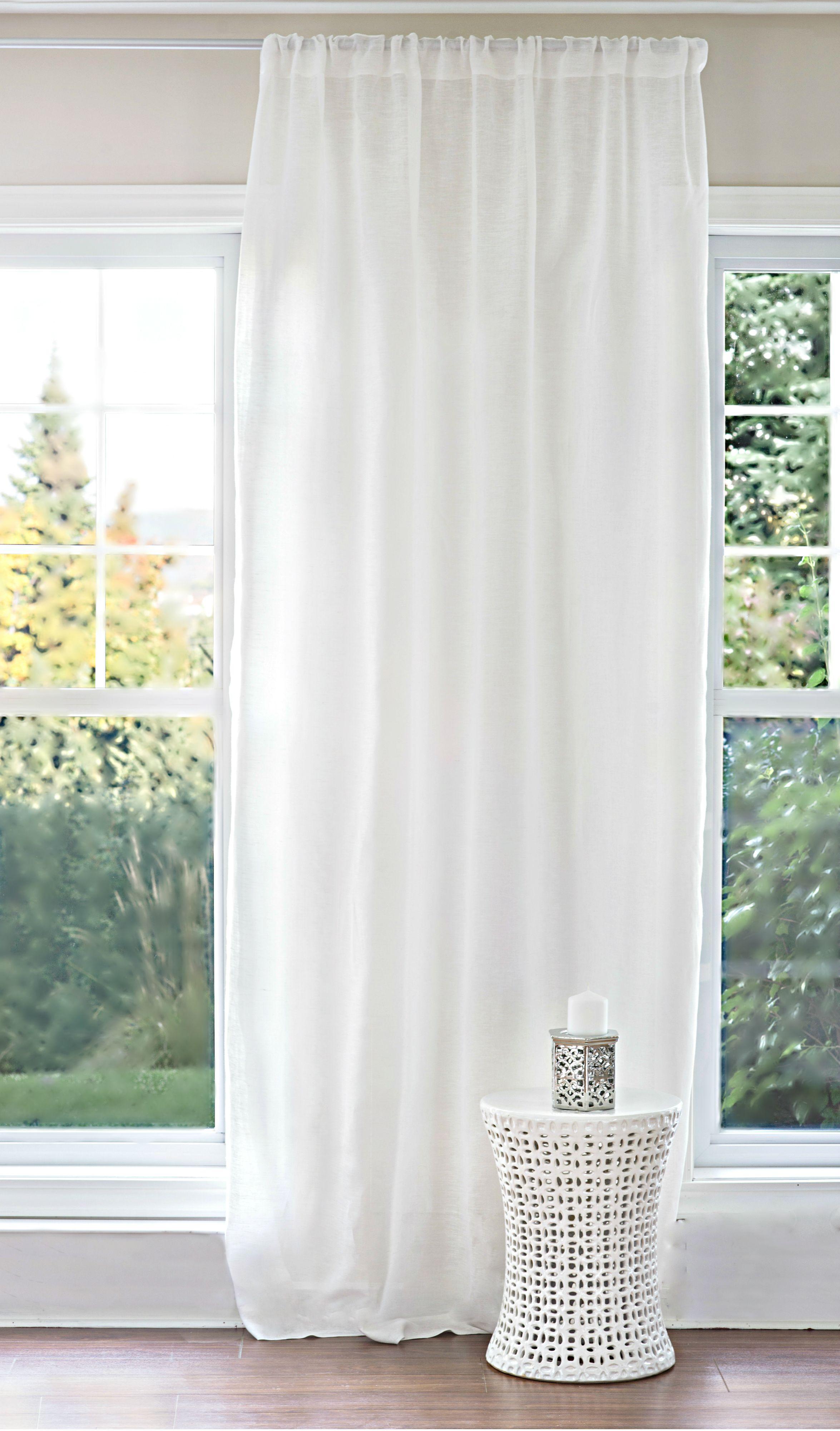 rideau voilage 100 lin raffin et l gant lavables la machine pur lin cie. Black Bedroom Furniture Sets. Home Design Ideas