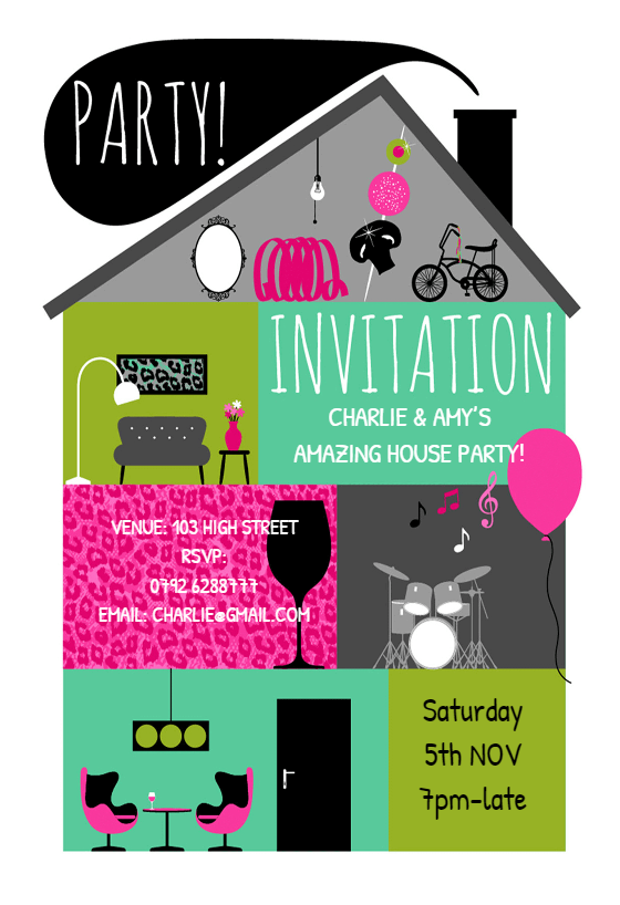 Amazing House Party House Party Invitation Template Free Greetings Island In 2021 Party Invite Template House Party Invitation Summer Party Invitations