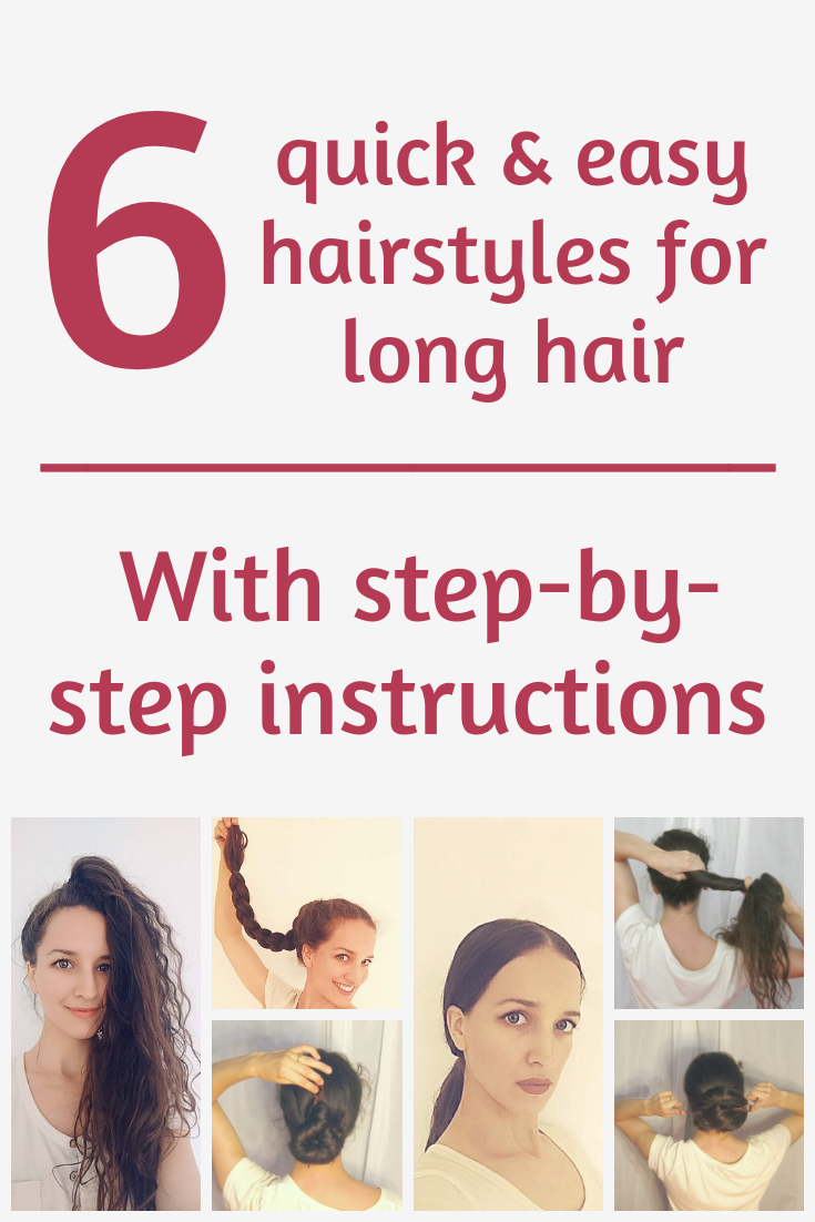 quick and easy hairstyles for long hair you can easily do yourself