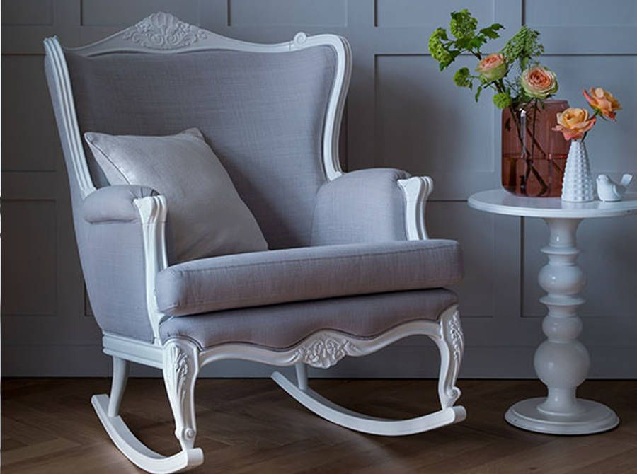 Lovely Rocking Chairs with Ottoman