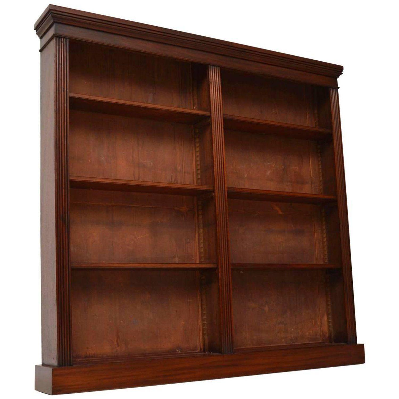 Antique Victorian Mahogany Open Bookcase In 2019 Shiny