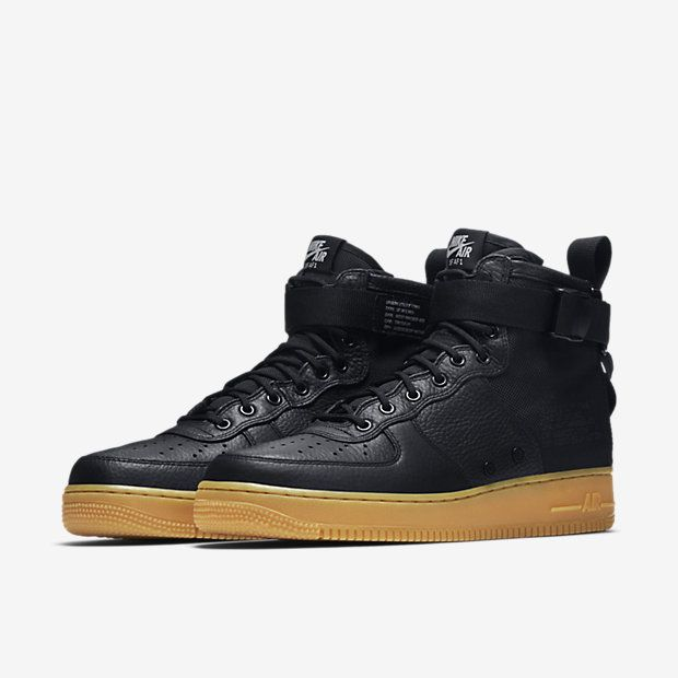 Nike Air Force 1 Mi Gencives Noires