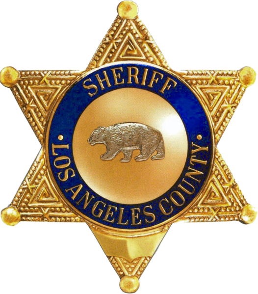 File Badge Of The Sheriff Of Los Angeles County California Png La County Sheriff Police Badge Sheriff Badge