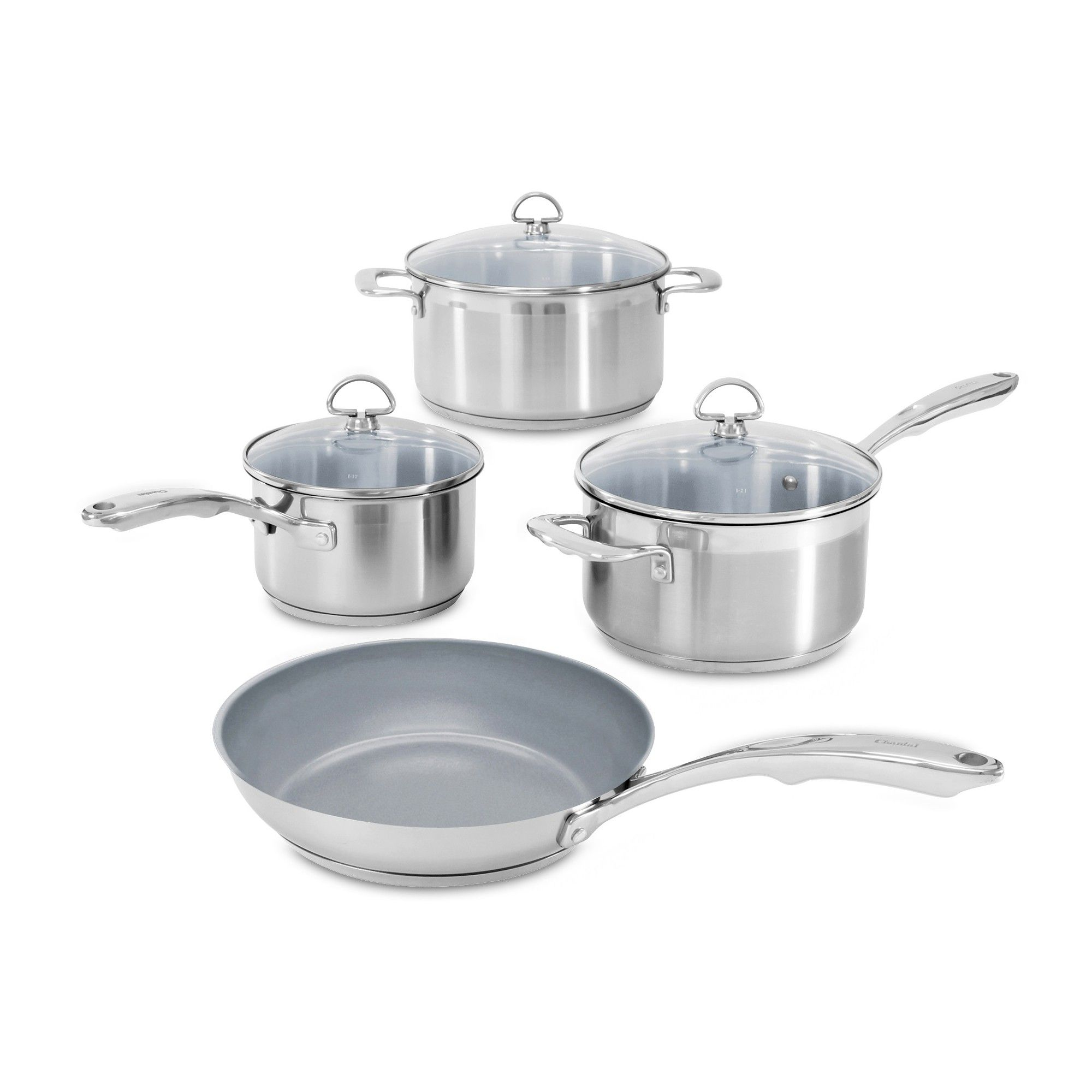 Chantal Induction 21 Steel 7pc Stainless Steel Silver With