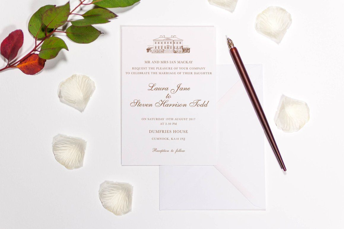 Dumfries House Wedding Invitation, HD Digital Print - Luxury Wedding ...