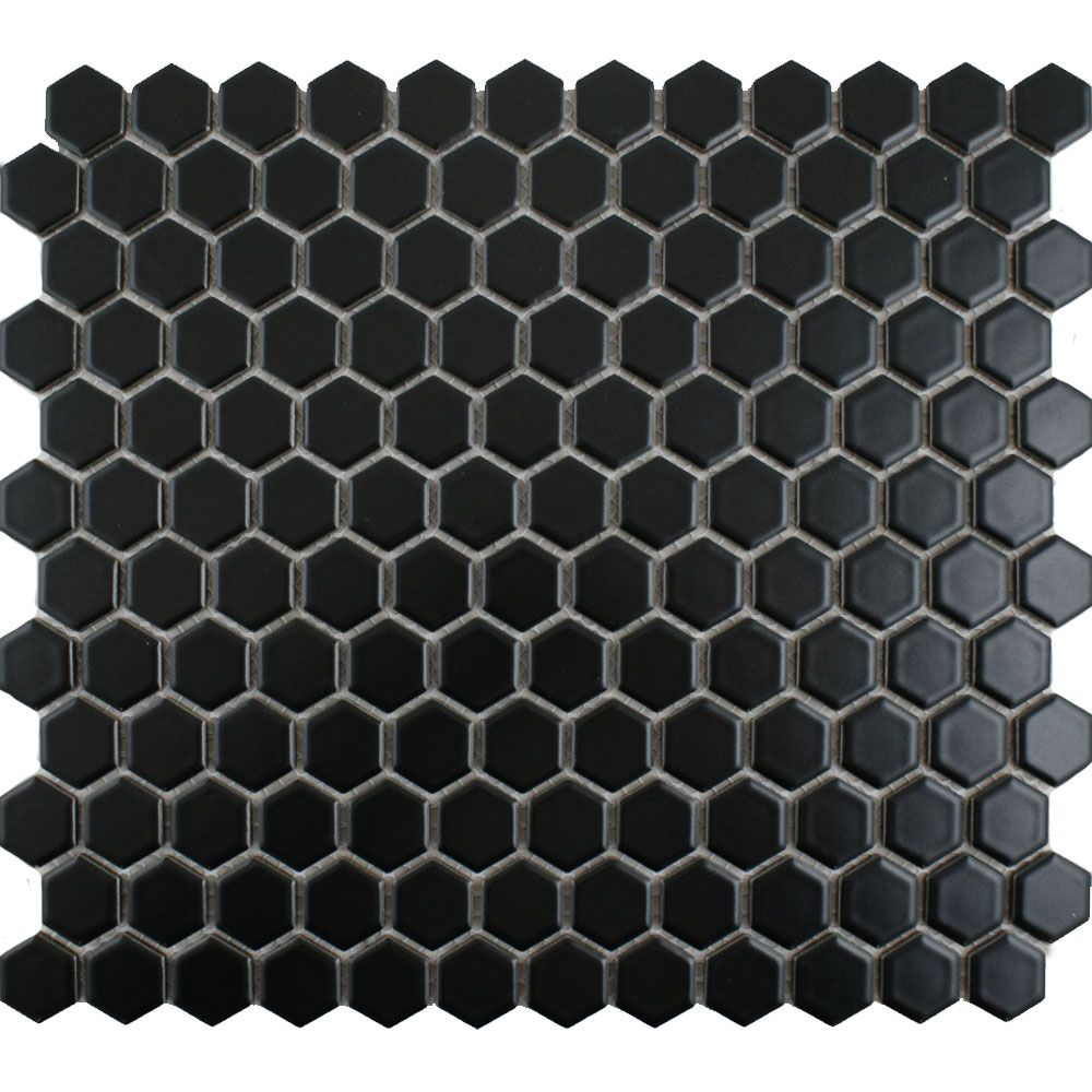 Matt black hexagon tiles 545 per sheet the bathroom pinterest leading tile specialists low prices on tiles black hexagon tilehexagon floor dailygadgetfo Gallery