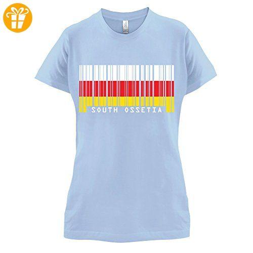 South dakota · South Ossetia / Südossetien Barcode Flagge - Damen T-Shirt  ...
