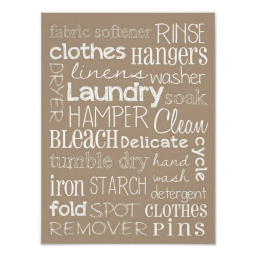 Laundry Room Posters