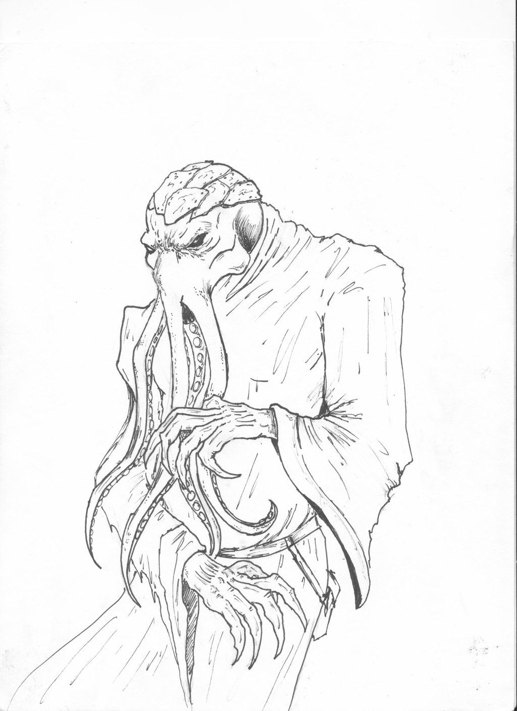 Clarota the Mind Flayer from Critical Role | Ink drawing, Drawings,  Character art