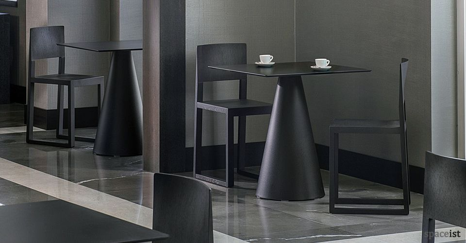 Icon Black Cafe Table White round tables, Table, Cafe tables