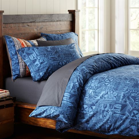 Kahuna Duvet Beach Theme Bedding Organic Covers E Room Pb