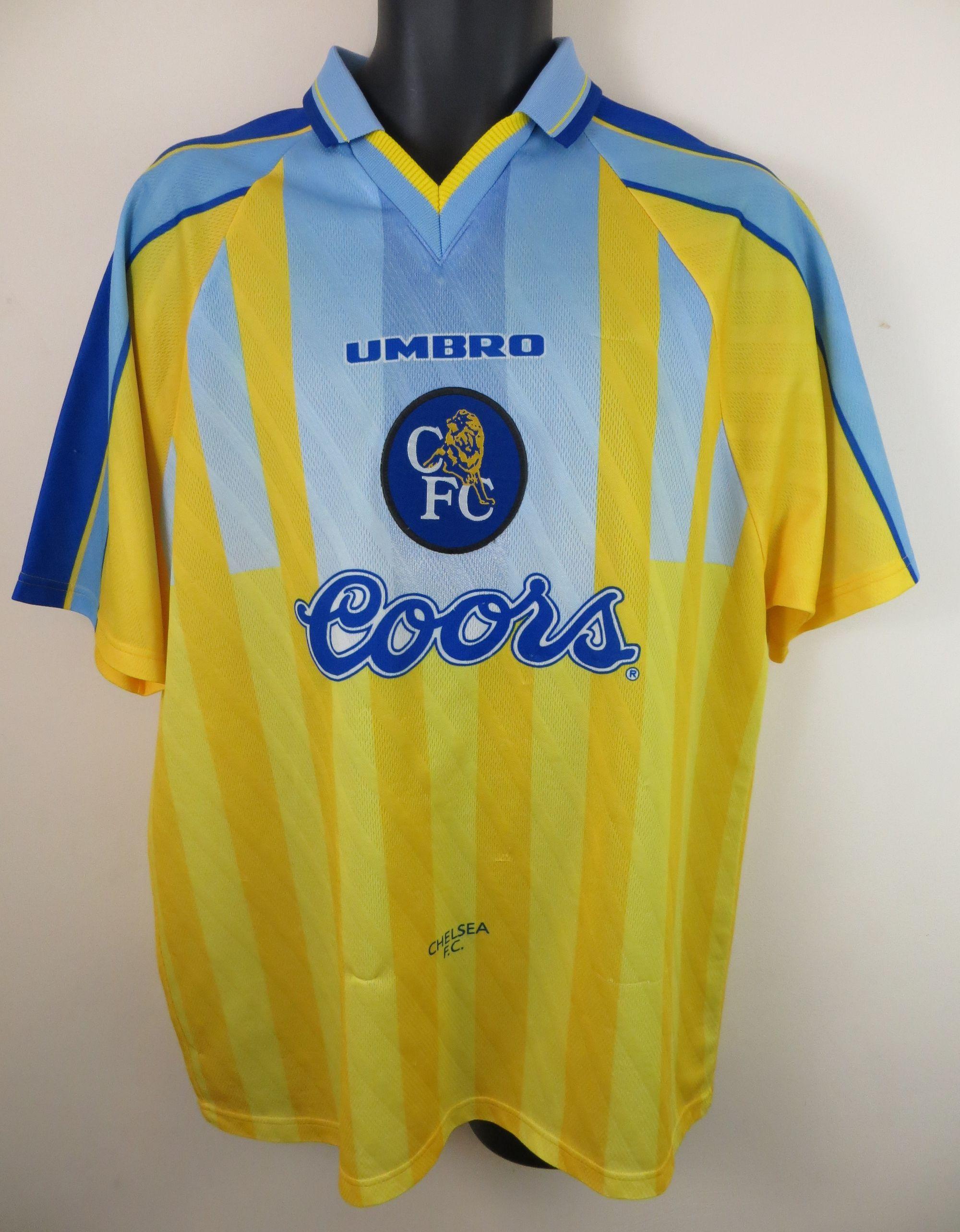 1996-97 Chelsea away shirt by Umbro | Retro football shirts ...