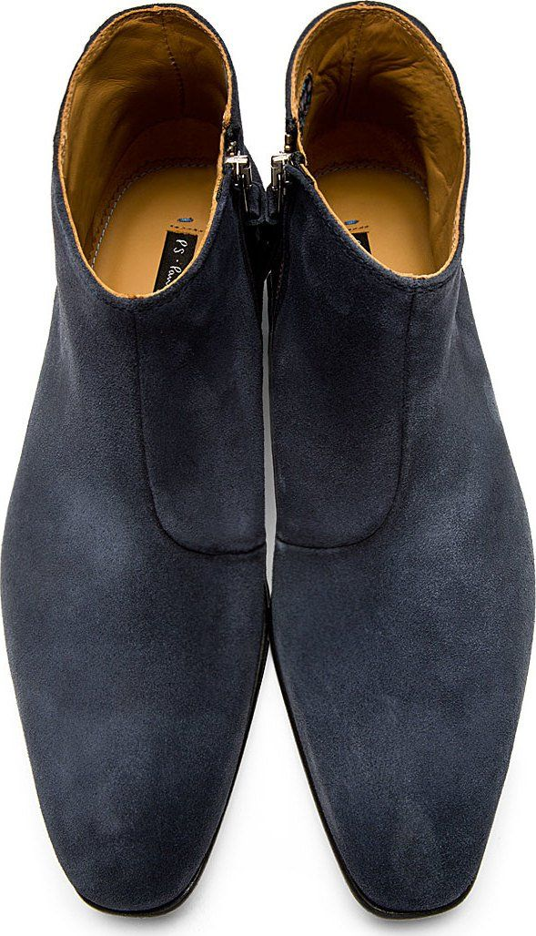 007ee4a4909 PS by Paul Smith Navy Suede Dove Chelsea Boots | Shoes in 2019 ...