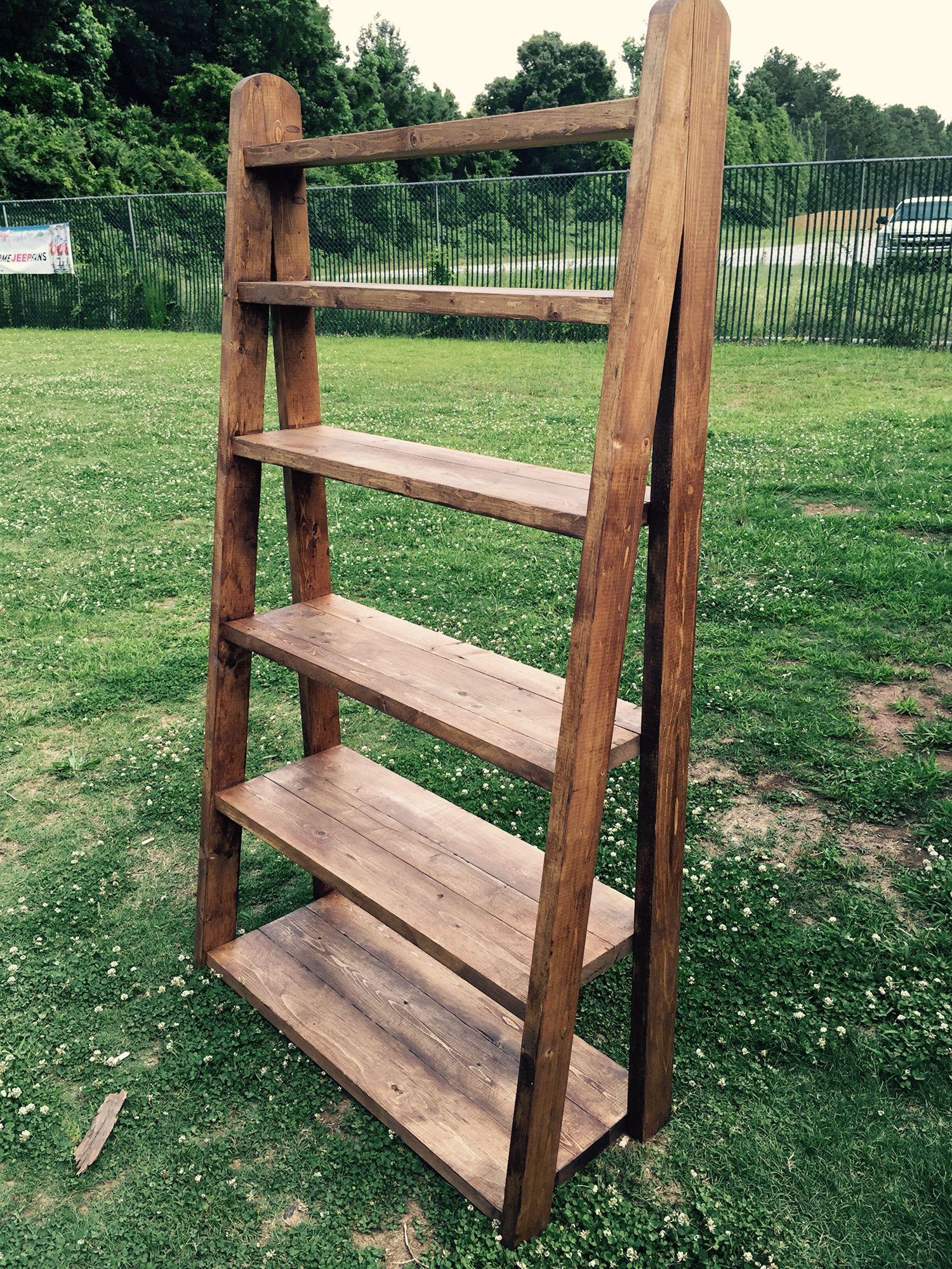 6 foot tall 3 1/2 wide ladder bookshelf | Wood ladder, Furniture
