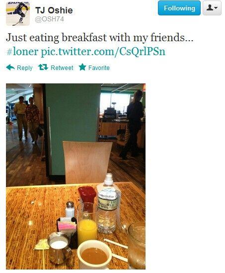Poor Osh. :( I will eat breakfast with u!!:)