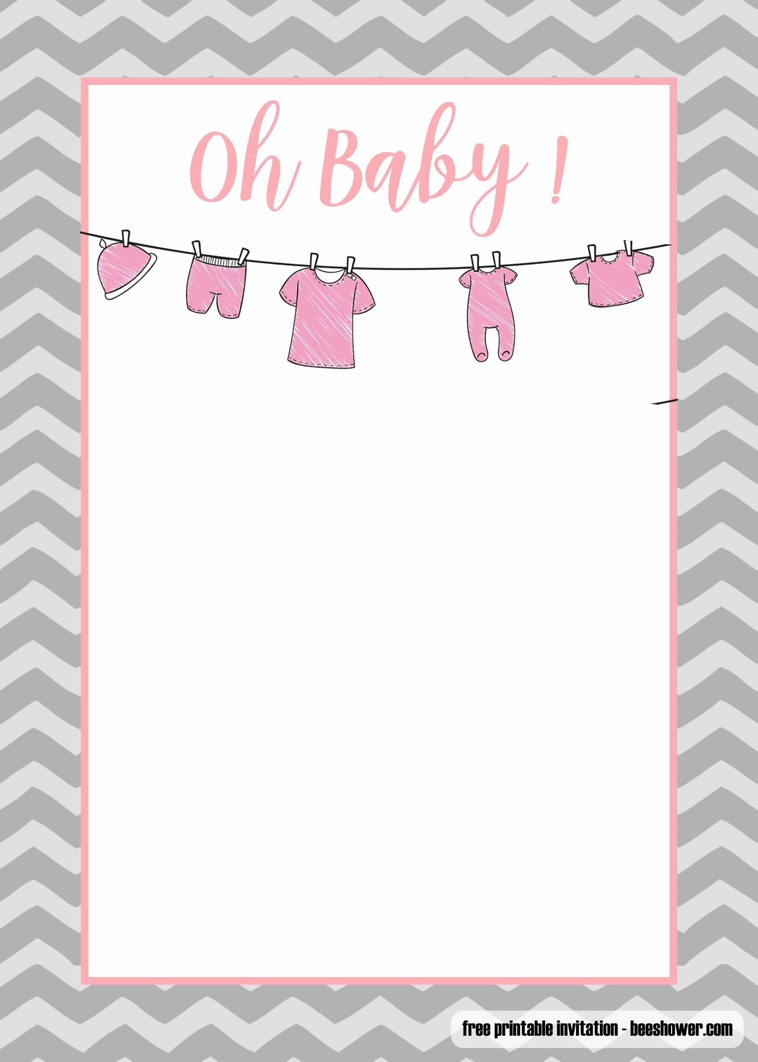 Baby Onesie Template For Baby Shower Invitations New Free Editable Baby S Free Baby Shower Invitations Onesie Baby Shower Invitations Baby Sprinkle Invitations