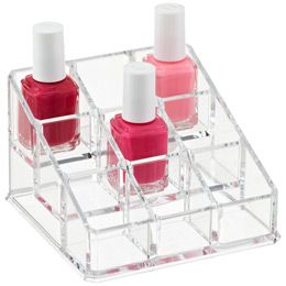 The Container Acrylic Nail Polish Organizer Lori White We Need A One Of These I M Still Trying To Fond Wall Shelf