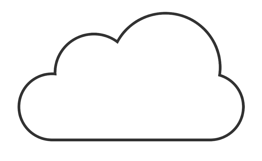 Outline Cloud Clipart Free Download Png Images Cloud Clipart Cloud Outline Clip Art Cloud Vector Png