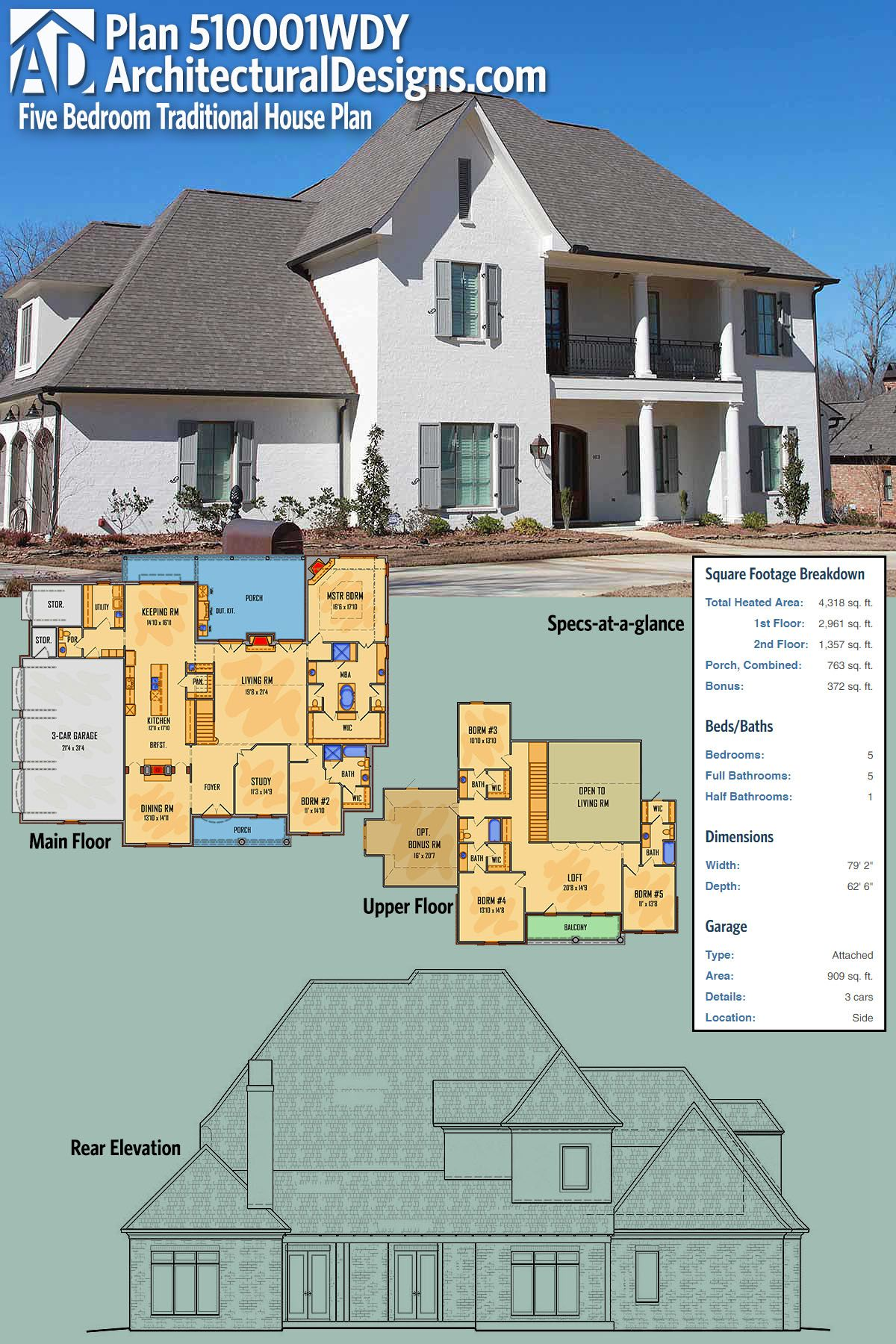 House Architectural Designs Traditional House Plan