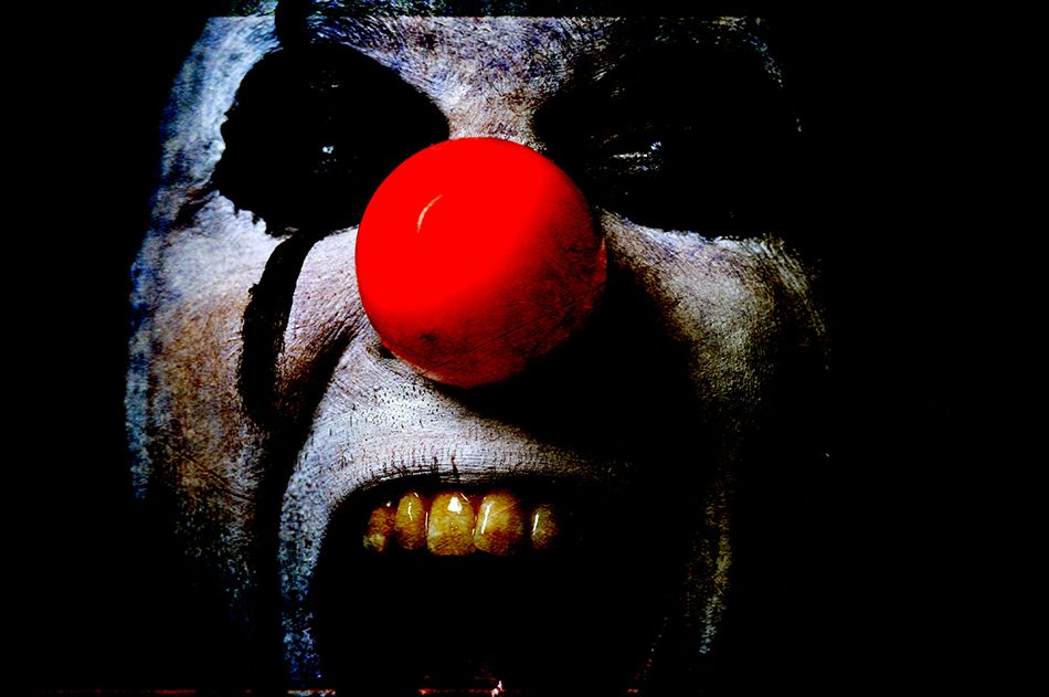 The window is open. He can see her, smell her. His makeup is smeared, the clown suit dirty and stained. Don't ask with what. The sharp, dirty butchers' knife is his secret. He giggles, a jagged painful sound. Soon it will be hers as well.     -- Richard Lawrence.