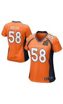 ... store nfl womens denver broncos von miller orange super bowl 50 bound  game jersey sb50 football 367e53f26