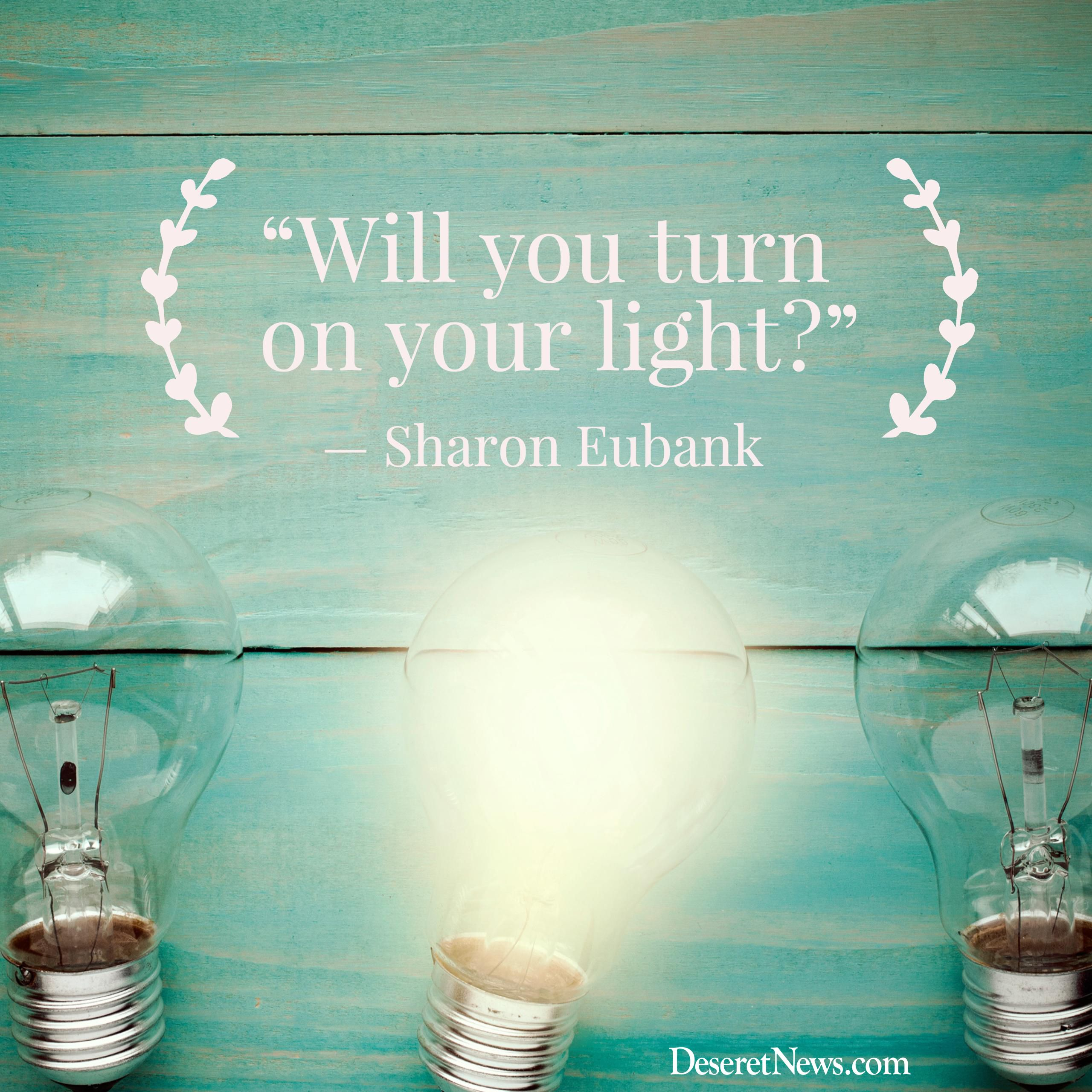 "Image result for Study helps: Sharon Eubank, ""Turn On Your Light"""