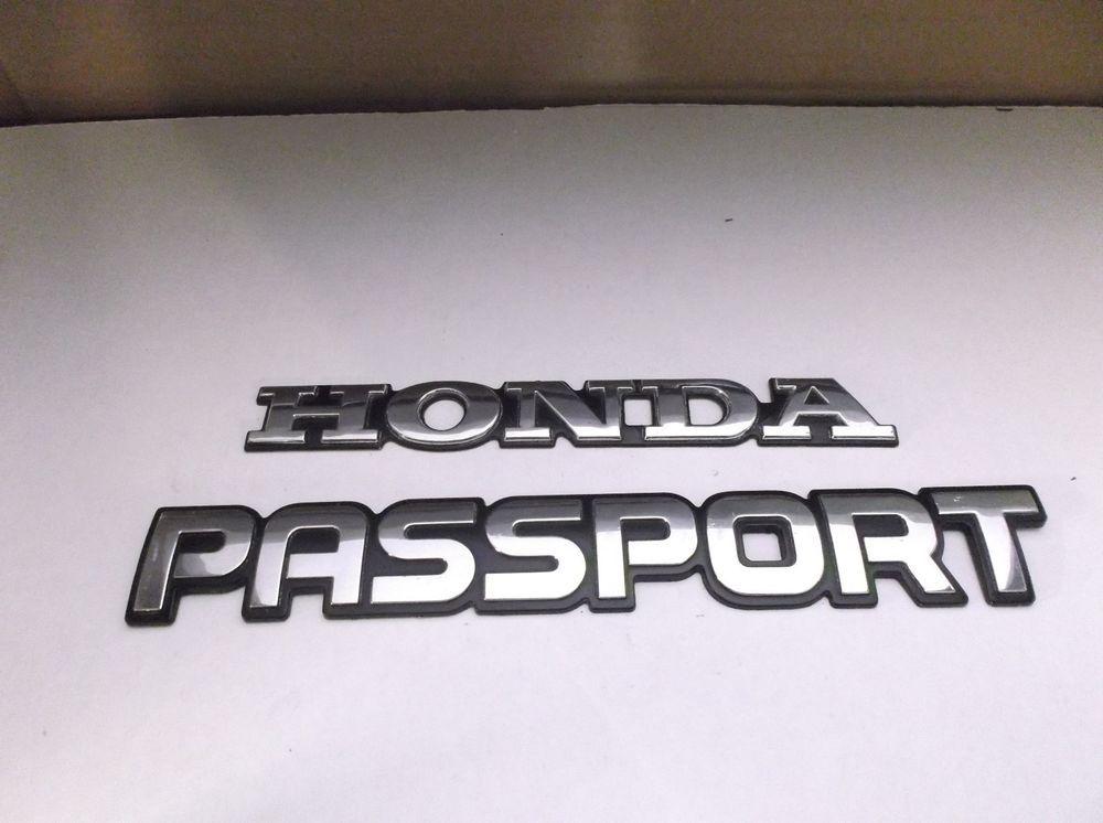 9302 HONDA PASSPORT REAR LID EMBLEM LOGO BADGE SIGN