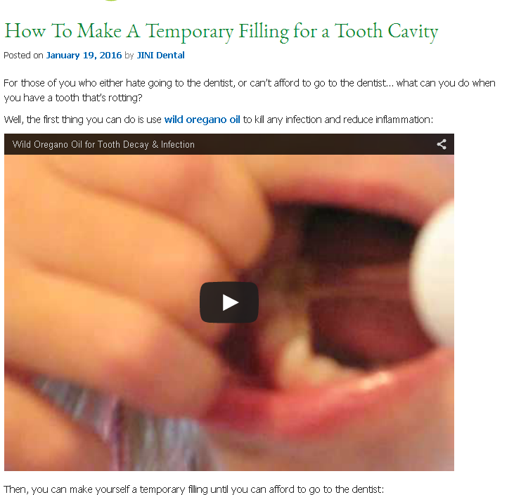 How to treat tooth pain and infection and make a temporary filling how to treat tooth pain and infection and make a temporary filling solutioingenieria Choice Image