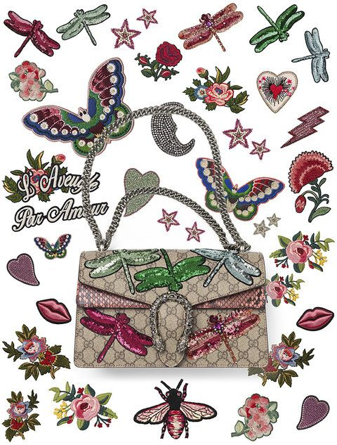 2e1a6293871b Gucci has launched a new DIY service so you can personalize your Dionysus  handbag. Check out some of the customizations.