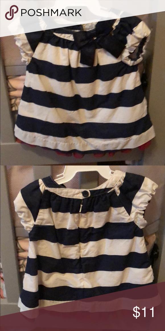 63a76772dd1a Baby Gap nautical Navy striped dress