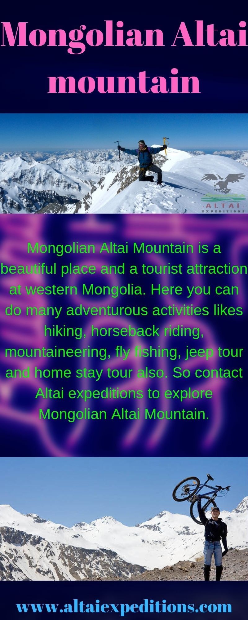 Mongolian Altai Mountain is a beautiful place and a
