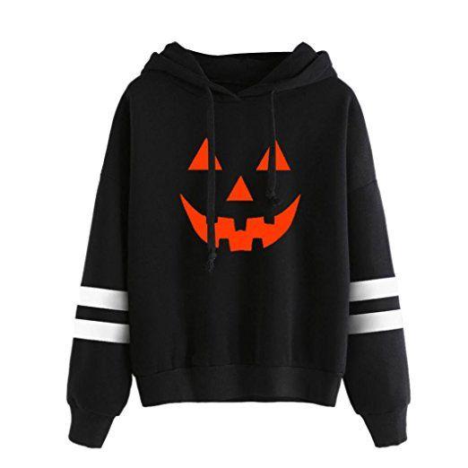 timeless design 2494b 685e2 Amlaiworld Halloween Stripe locker Sweatshirt damen mit ...