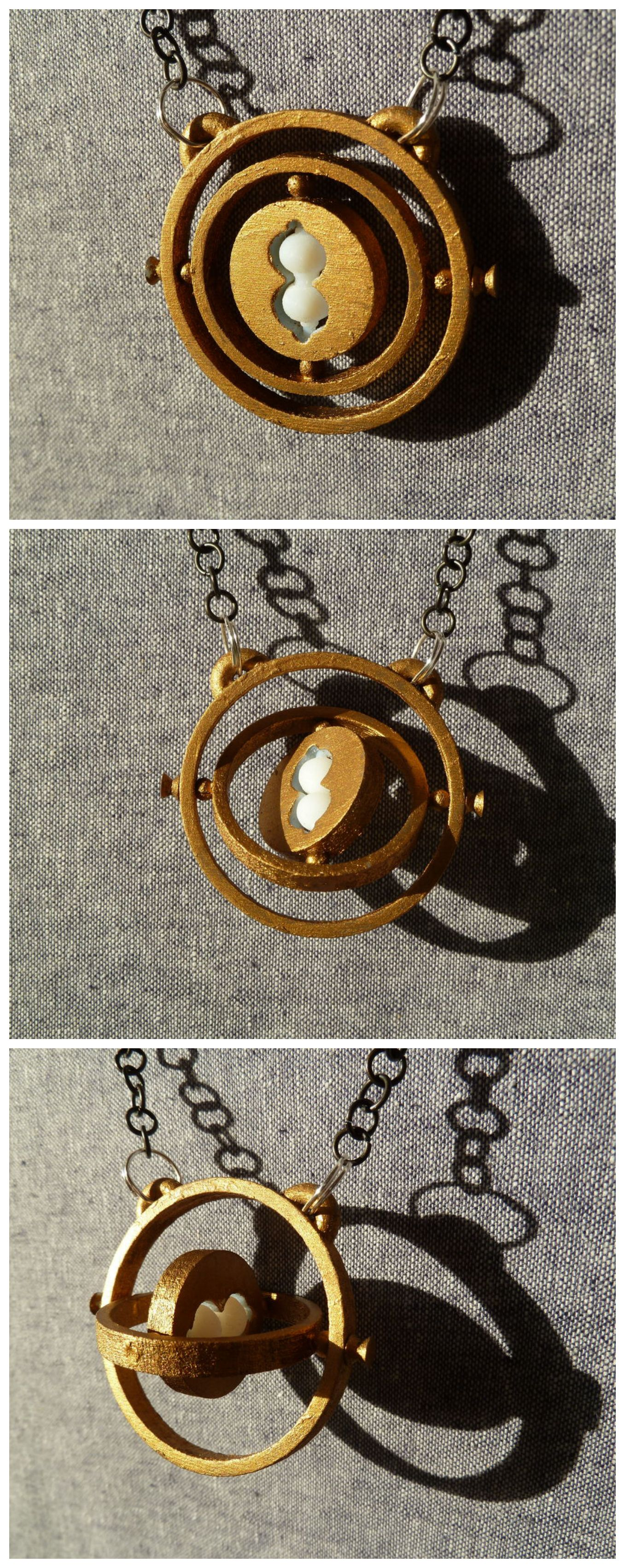 3D Printed Time Turner Necklace Pendant #Harry_Potter #jewelry #Hermione