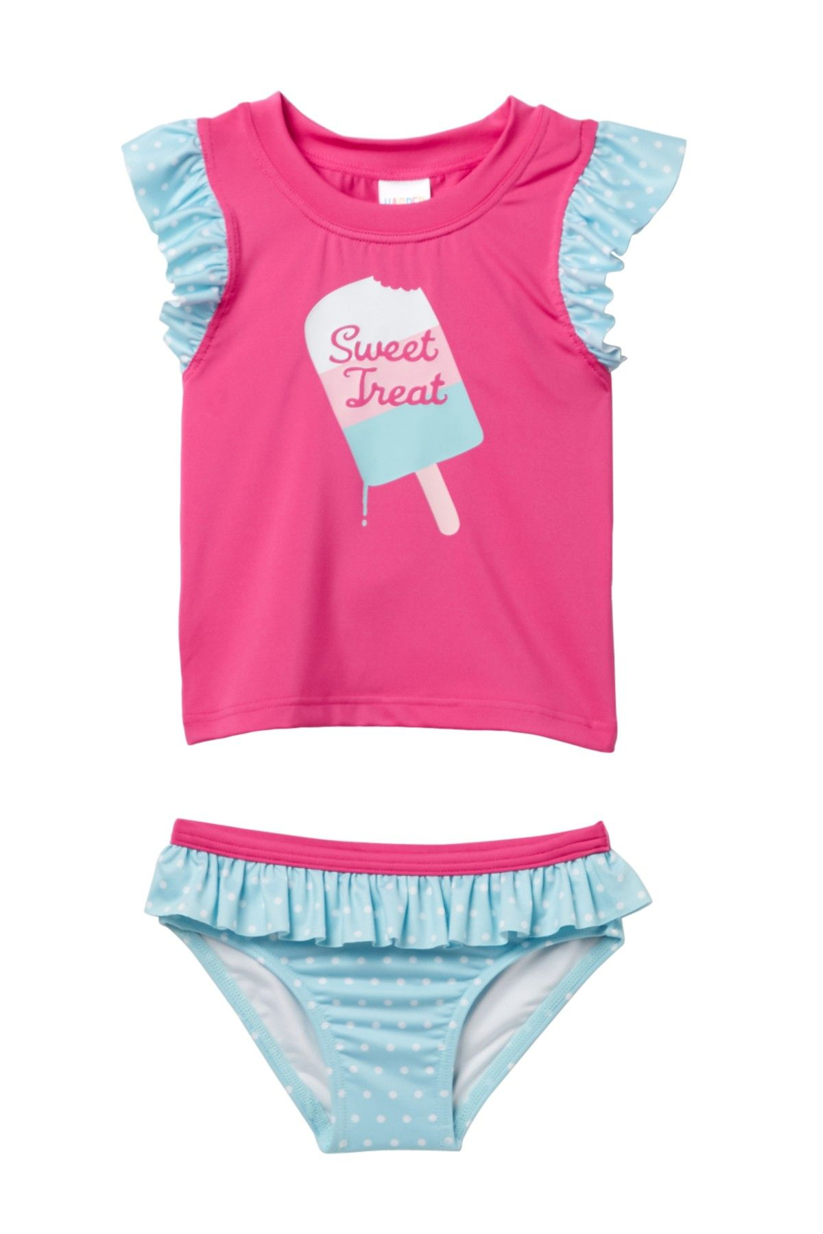 17ddf13a366 Harper Canyon Ruffle Rashguard Set (Toddler, Little Girls, & Big ...