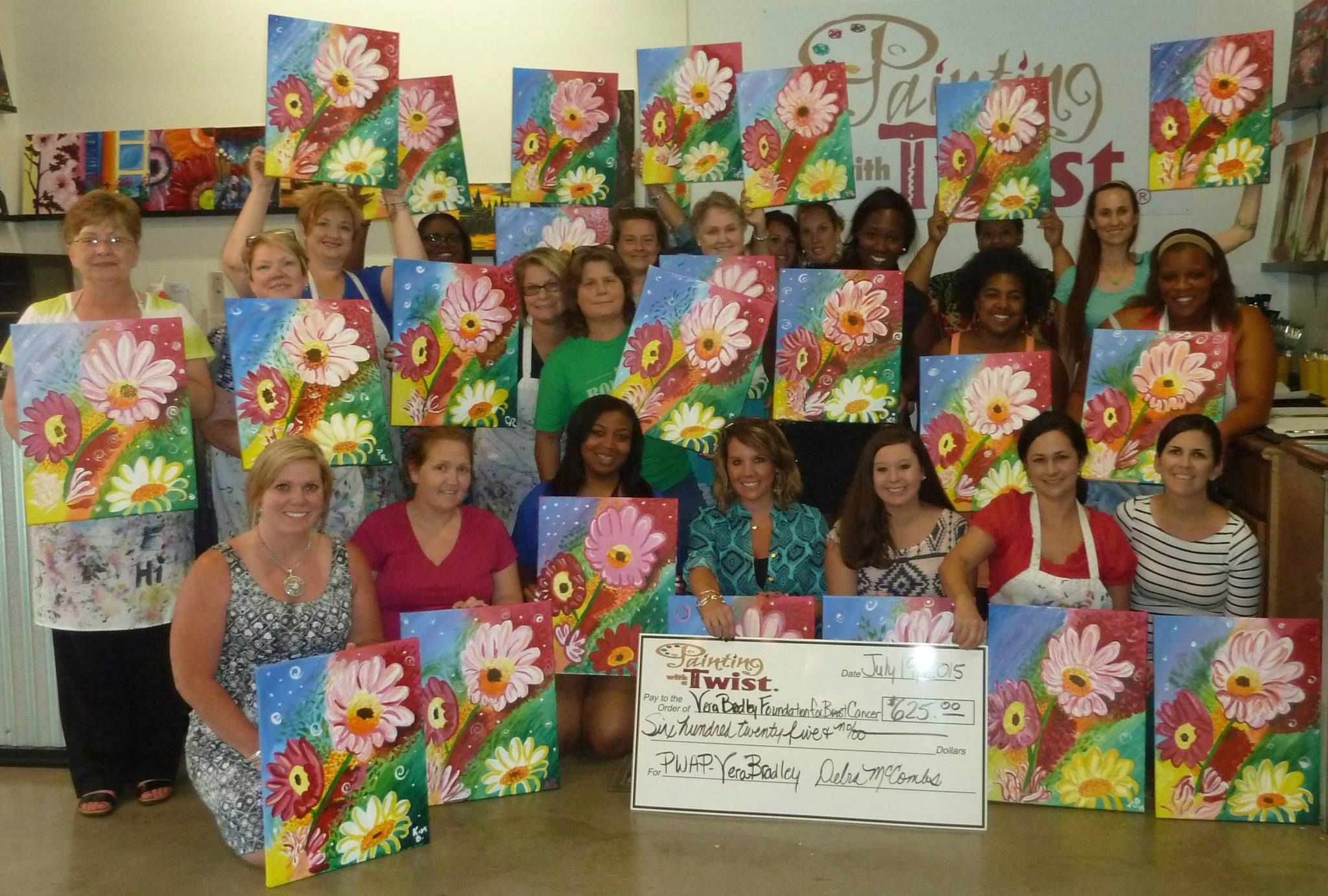 Painting For A Good Cause 2015 Vera Bradley Painting With A Purpose